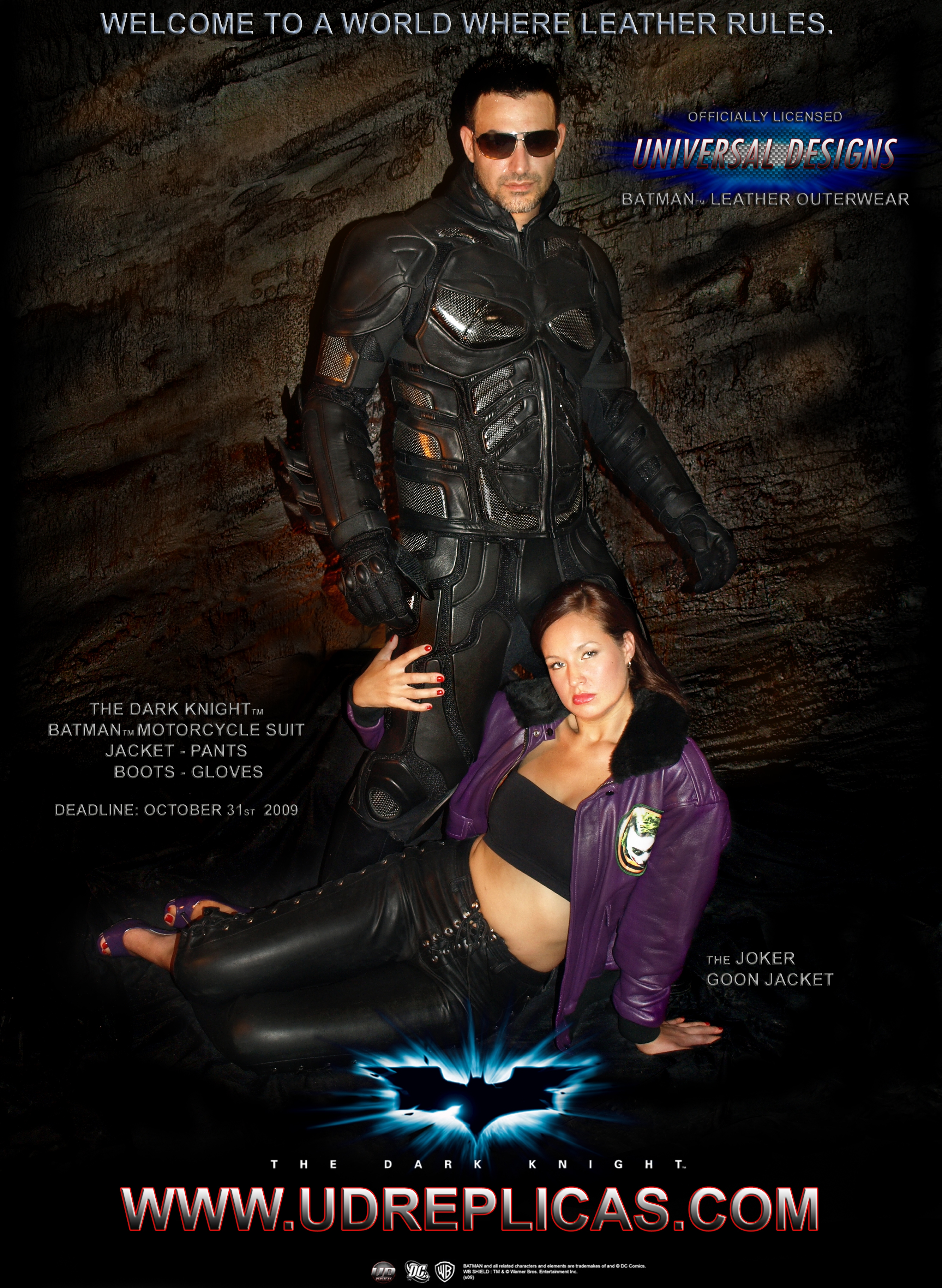 The Dark Knight Rises - Leather Outerwear 2009 Promo Image ...  sc 1 th 263 & UD Replicas - Official Superhero Outerwear