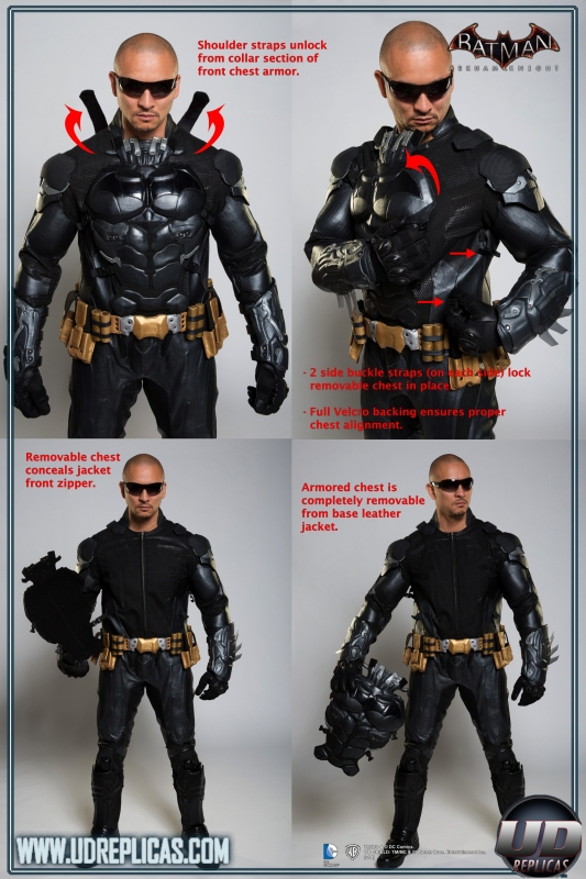 Armored Leather Motorcycle Jacket >> BATMAN™: Arkham Knight - Leather Motorcycle Suit