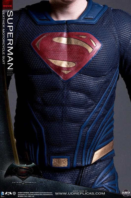Superman Dawn Of Justice Leather Motorcycle Suit