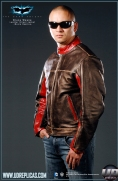 The Dark Knight™ - Bruce Wayne: Movie Replica Leather Street Jacket Image 3