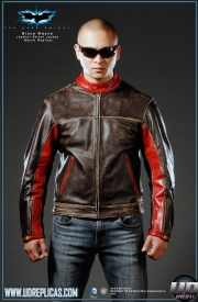 The Dark Knight™ - Bruce Wayne: Movie Replica Leather Street Jacket