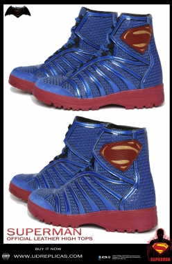 SUPERMAN - Official Leather High Tops Image 1