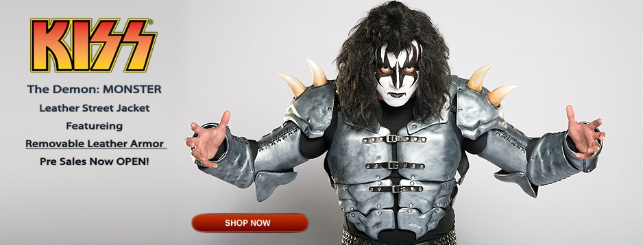 KISS™ The Demon: MONSTER Leather Street Jacket